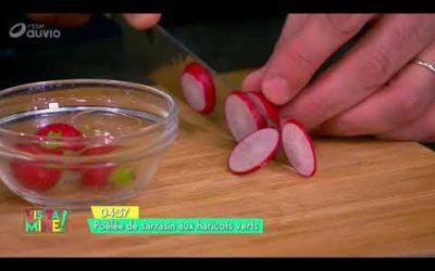 Poêlée de sarrasin aux haricots verts et radis